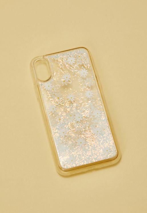 Daisy Liquid Glitter  iPhone X Case