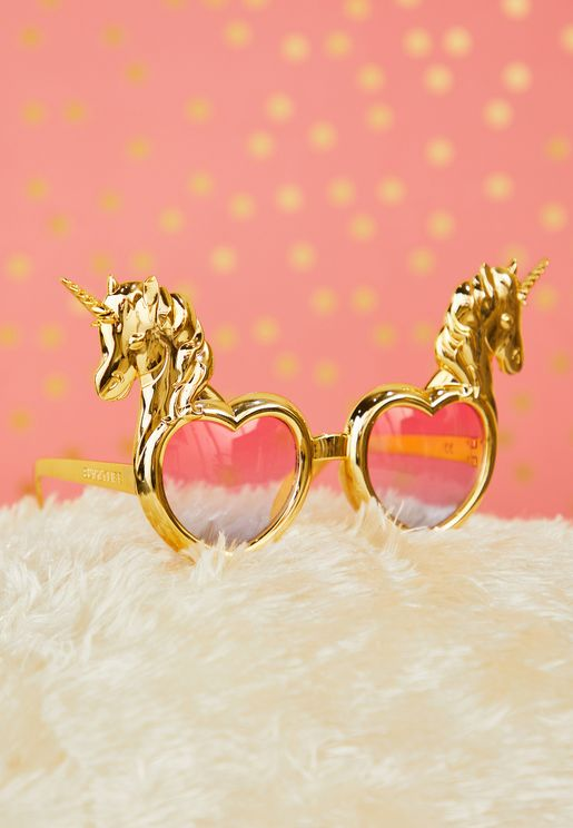 نظارة للحفلات بشكل وحيد القرن