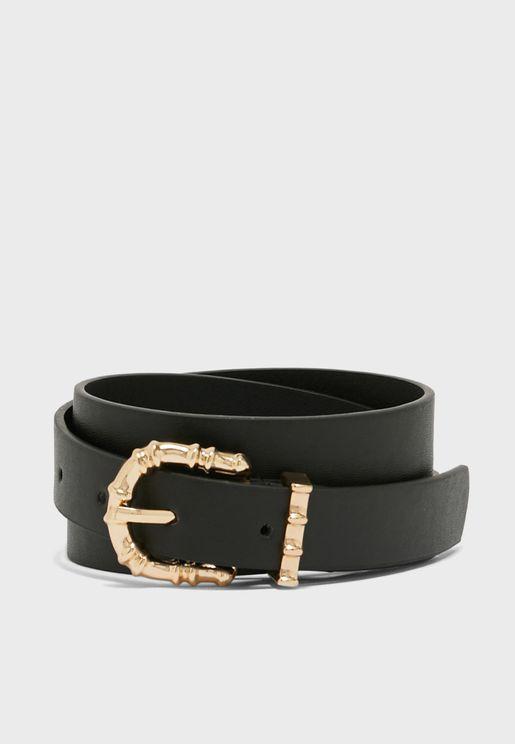 Buckle Detail Jeans Belt