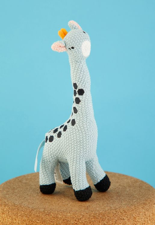 Kids Knitted Cuddly Giraffe Toy