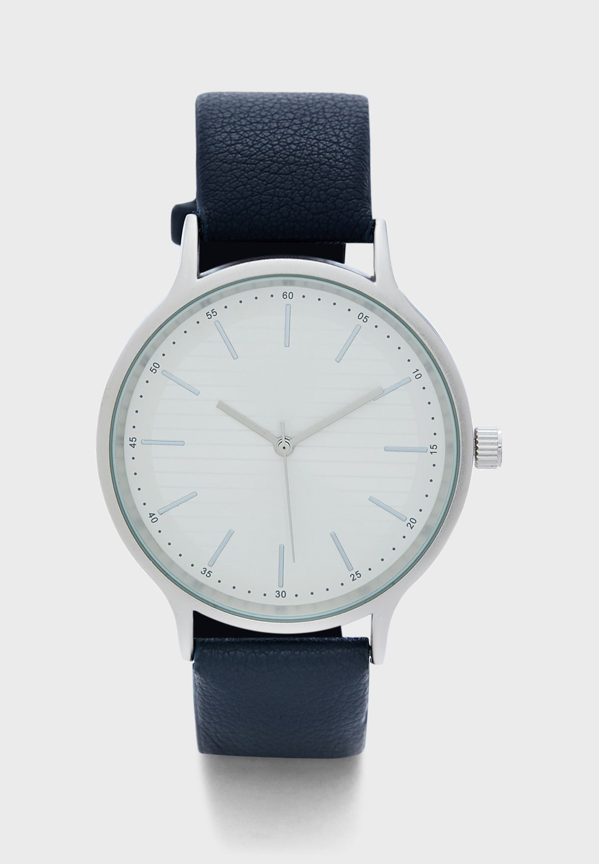 Silver Case Analogue Watch