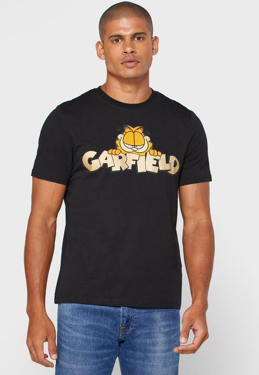 Garfield Crew Neck T-Shirt