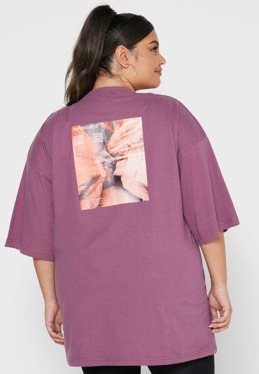 Graphic Oversized T-Shirt Dress