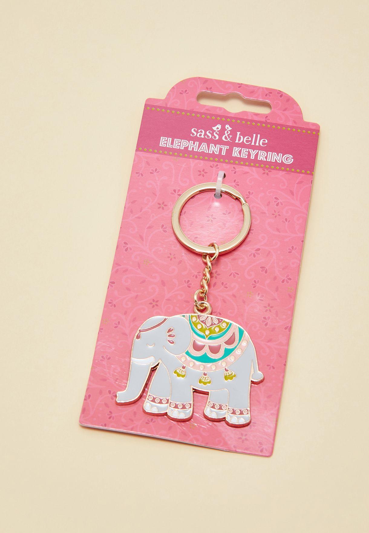حلقة مفاتيح على شكل فيل