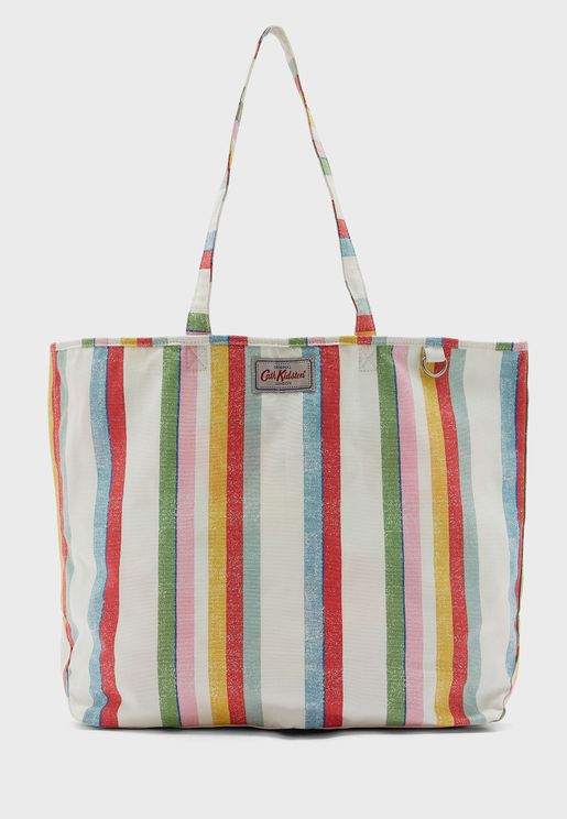 Beach Striped Shopper