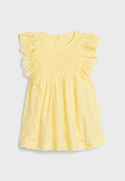 Infant Eyelet Dress Set