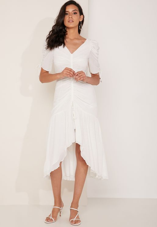 Method Ruched Detail Midi Dress
