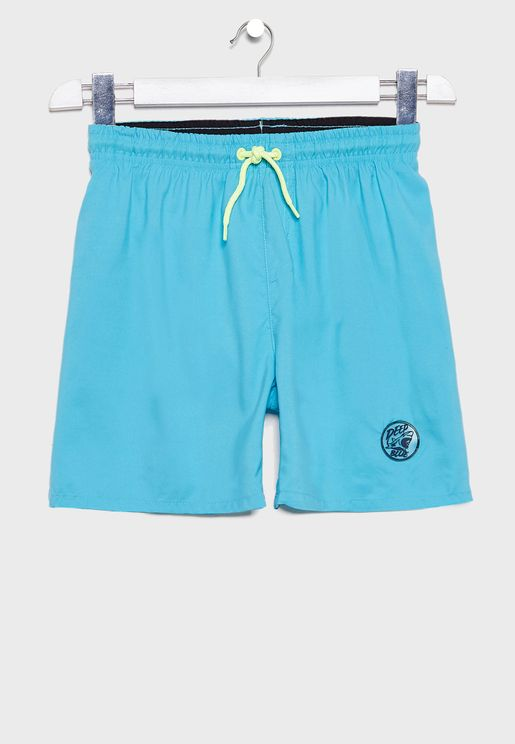 Kids Tie Waist Swim Shorts