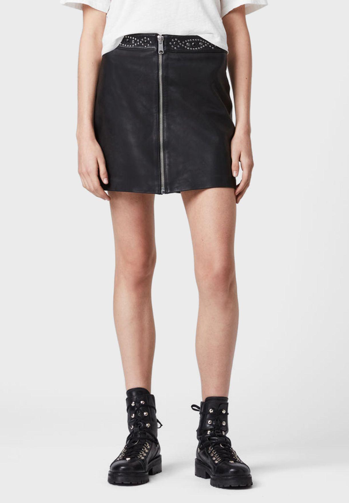 Luna Belted Mini Skirt