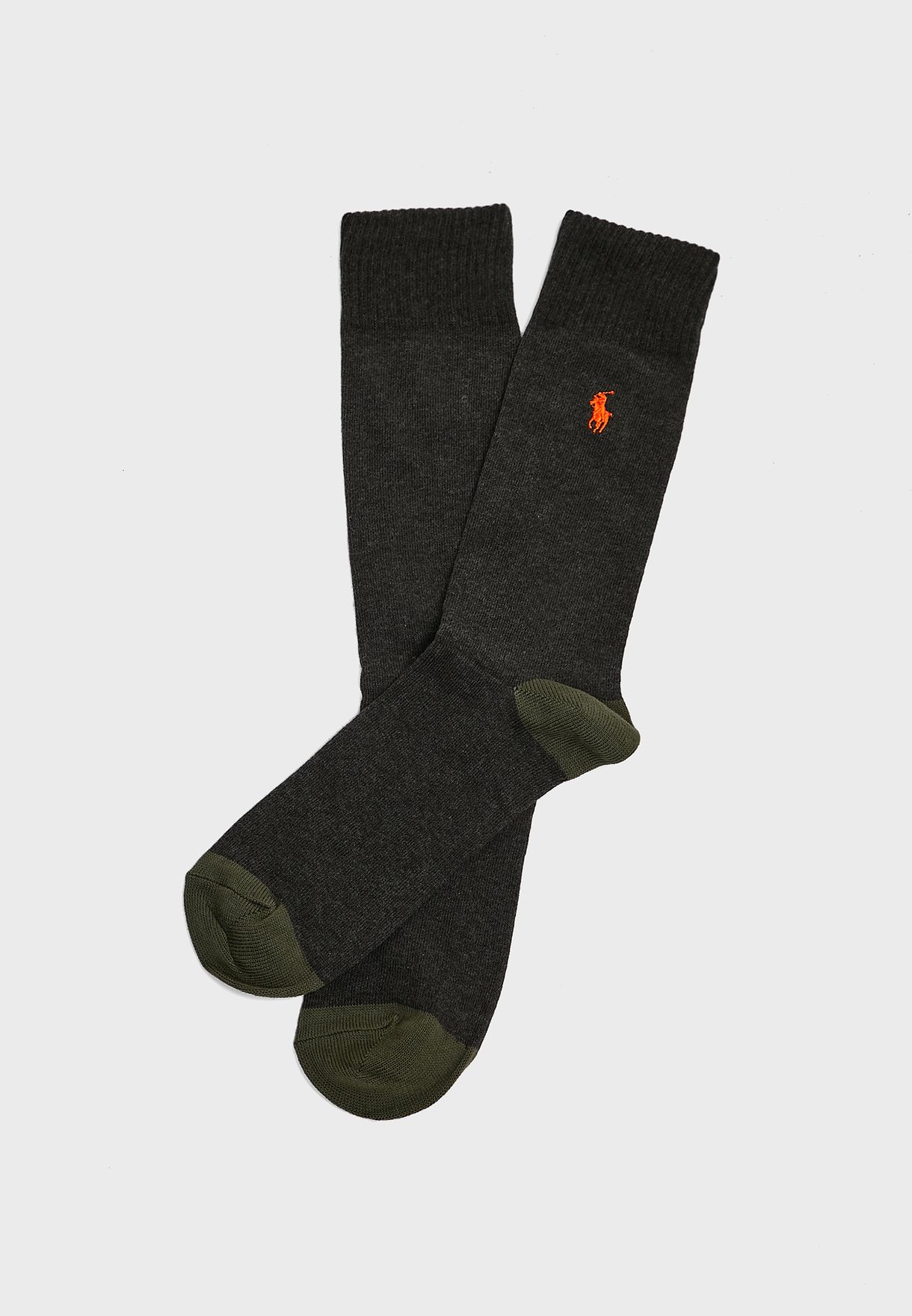 2 Pack Assorted Crew Socks