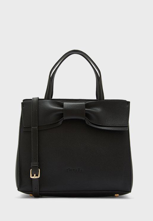 Bow Detail Tote Handbag