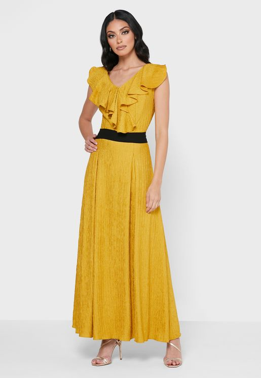 Ruffle Collared Dress
