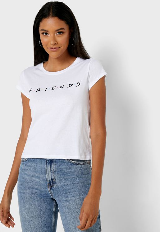 Friends Slogan Slim T-Shirt