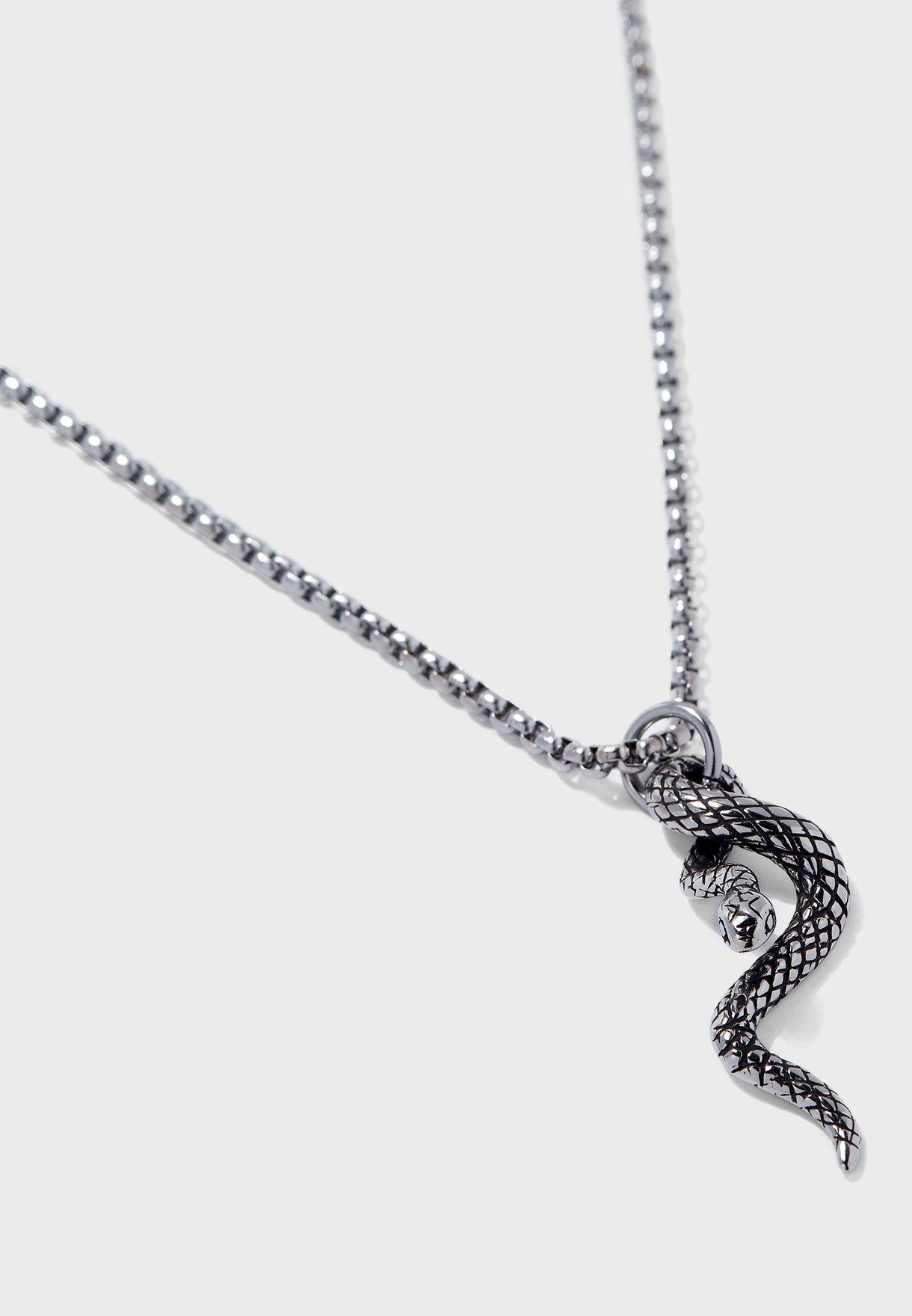 Snake Twirl Necklace