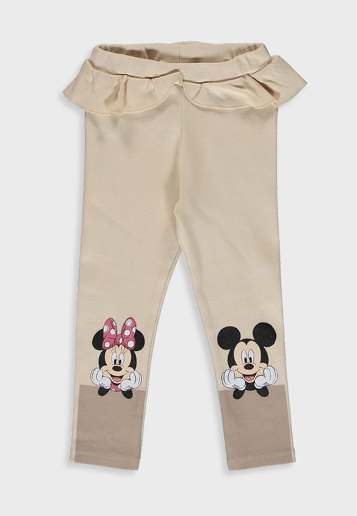 Infant Minnie And Mickey Leggings