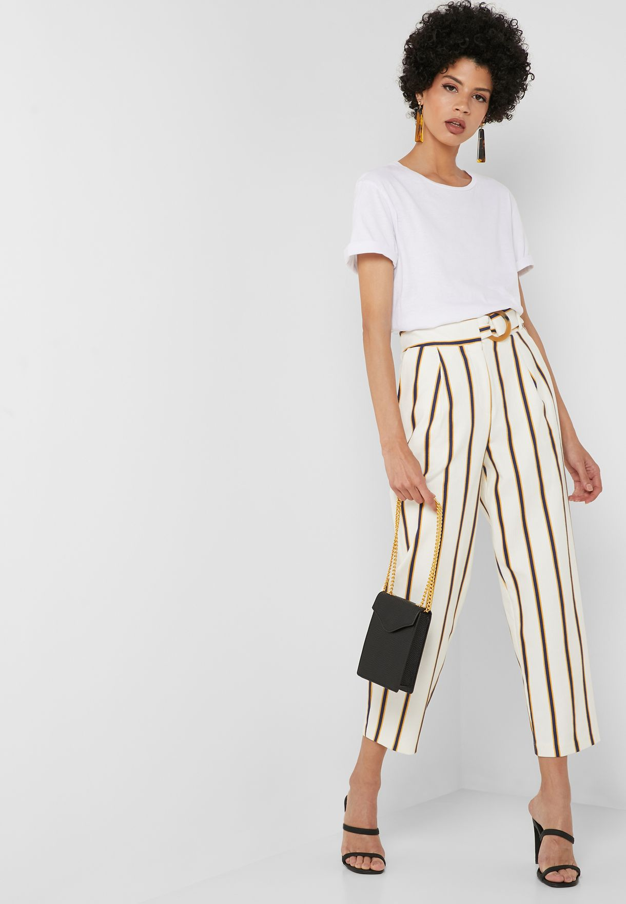 Striped Peg Pants