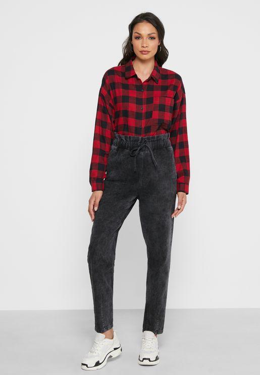 Paperbag Waist Jogger Jeans