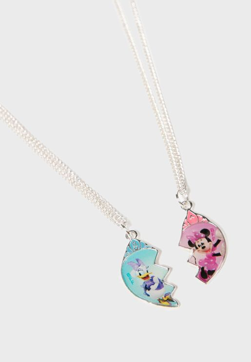 Kids Mickey And Minnie Necklaces