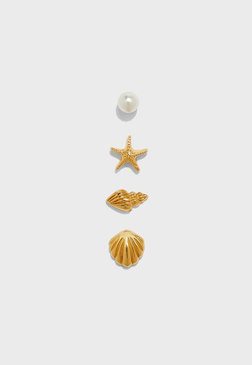 Under The Sea Stud Earrings Set