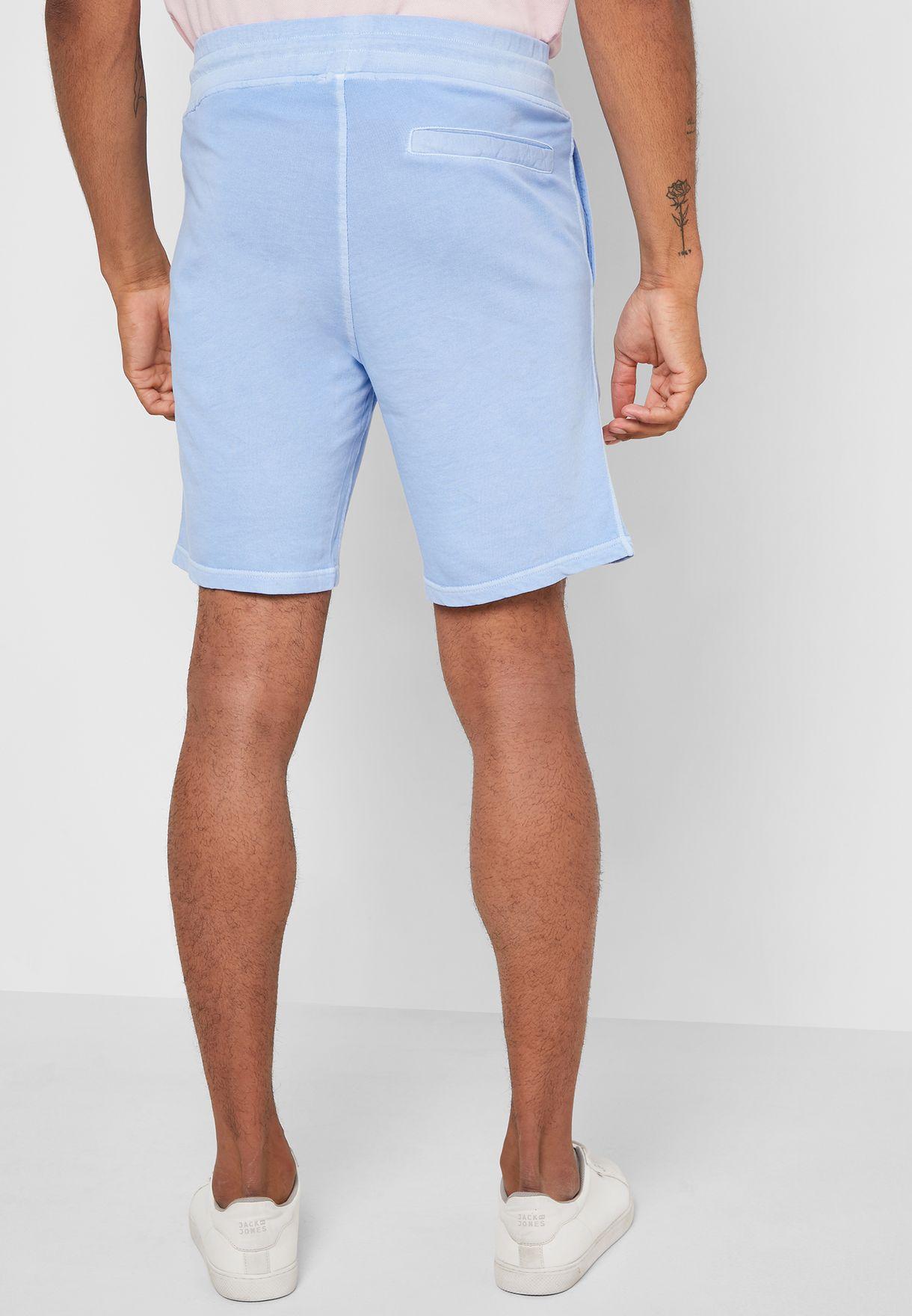 Sun-bleached  Elastic Waist Shorts