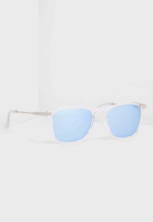 نظارة شمسية مستطيلة بحماية كاملة من اشعة الشمس