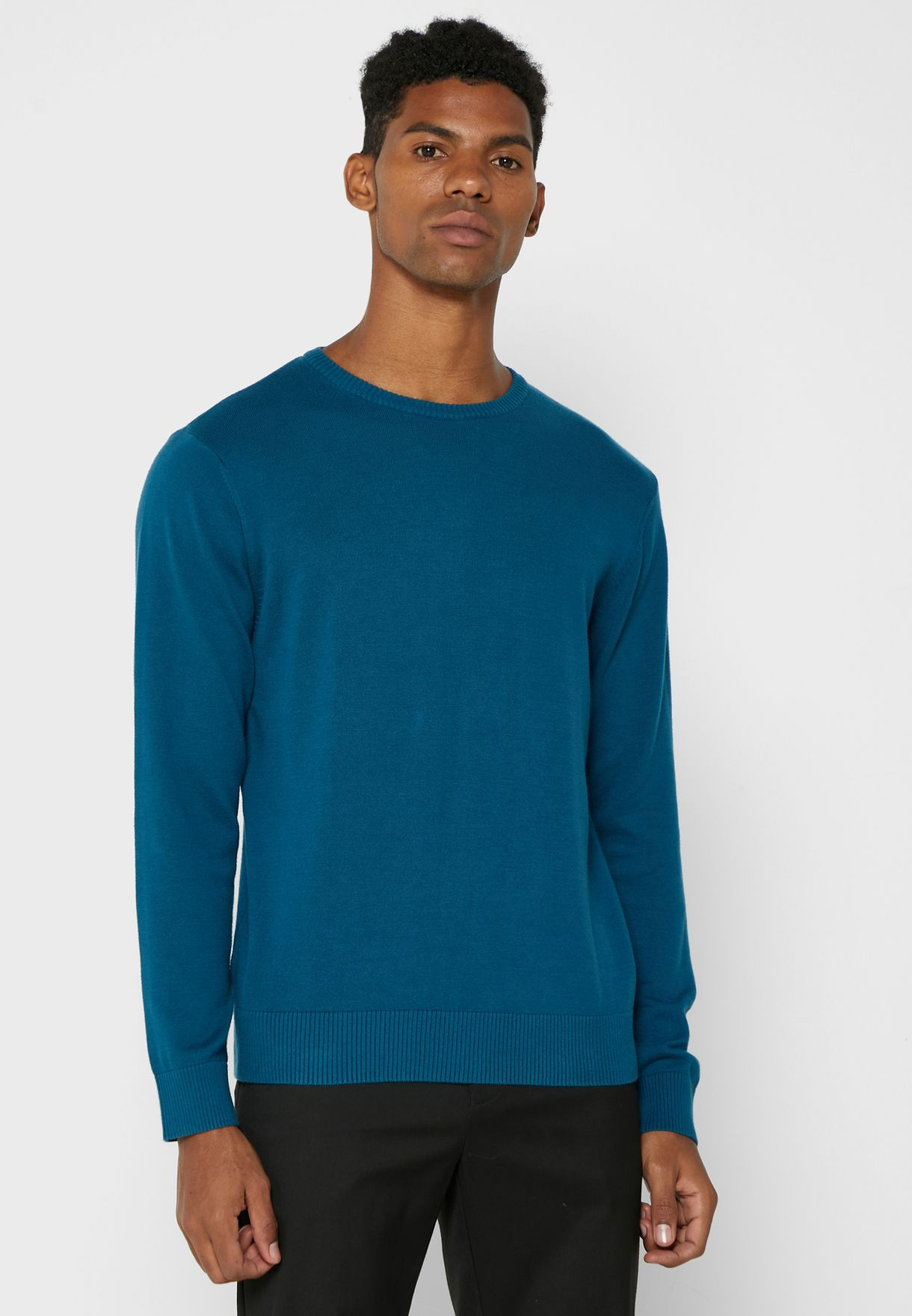 Crew Neck Cotton Knit