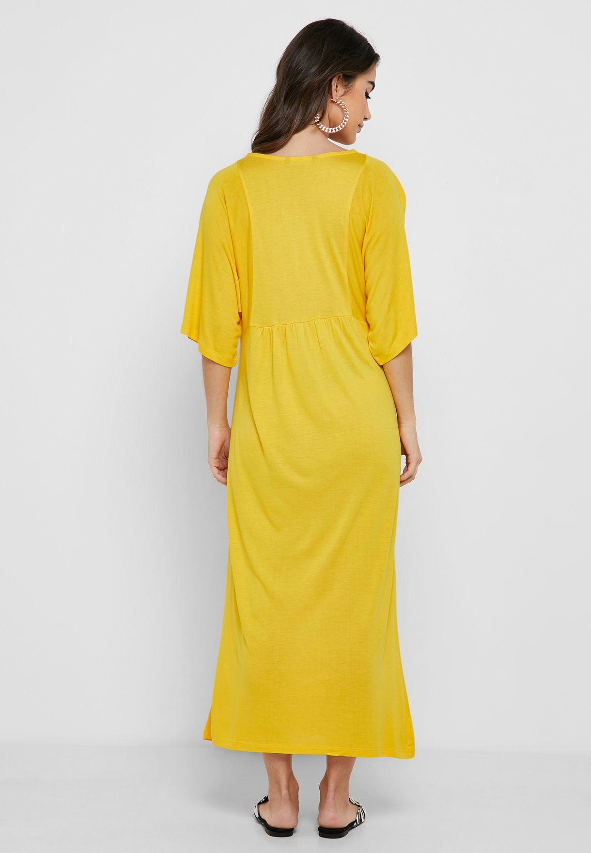 Wide Sleeve Maxi Dress