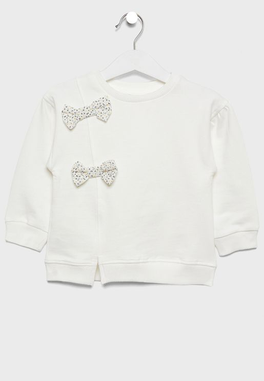 Infant Bow Detail Sweatshirt