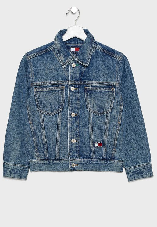 Teen Logo Patch Denim Jacket