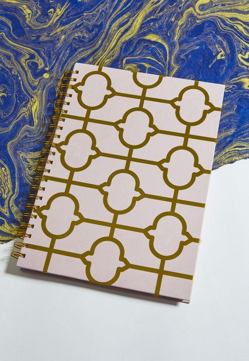 A4 Gold Tile Print Notebook