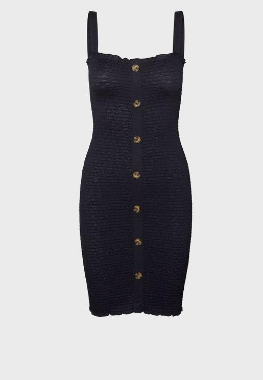 Cami Button Detail Dress