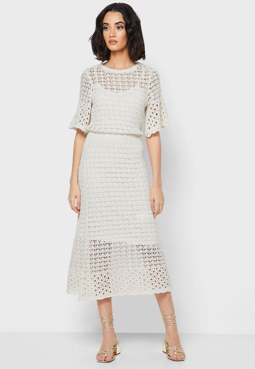 Openwork Sheer Dress