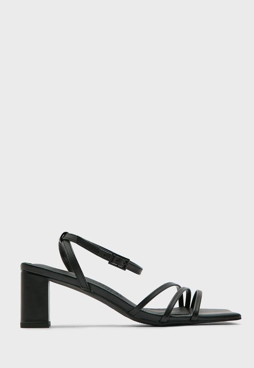 Ankle Strap Low Block Heel