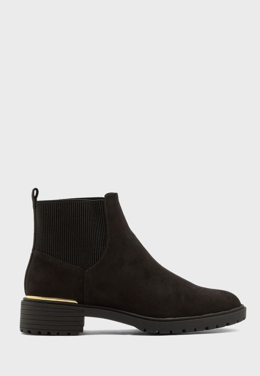 Wide Fit  Dapper 2 Mid Heel Ankle Boot