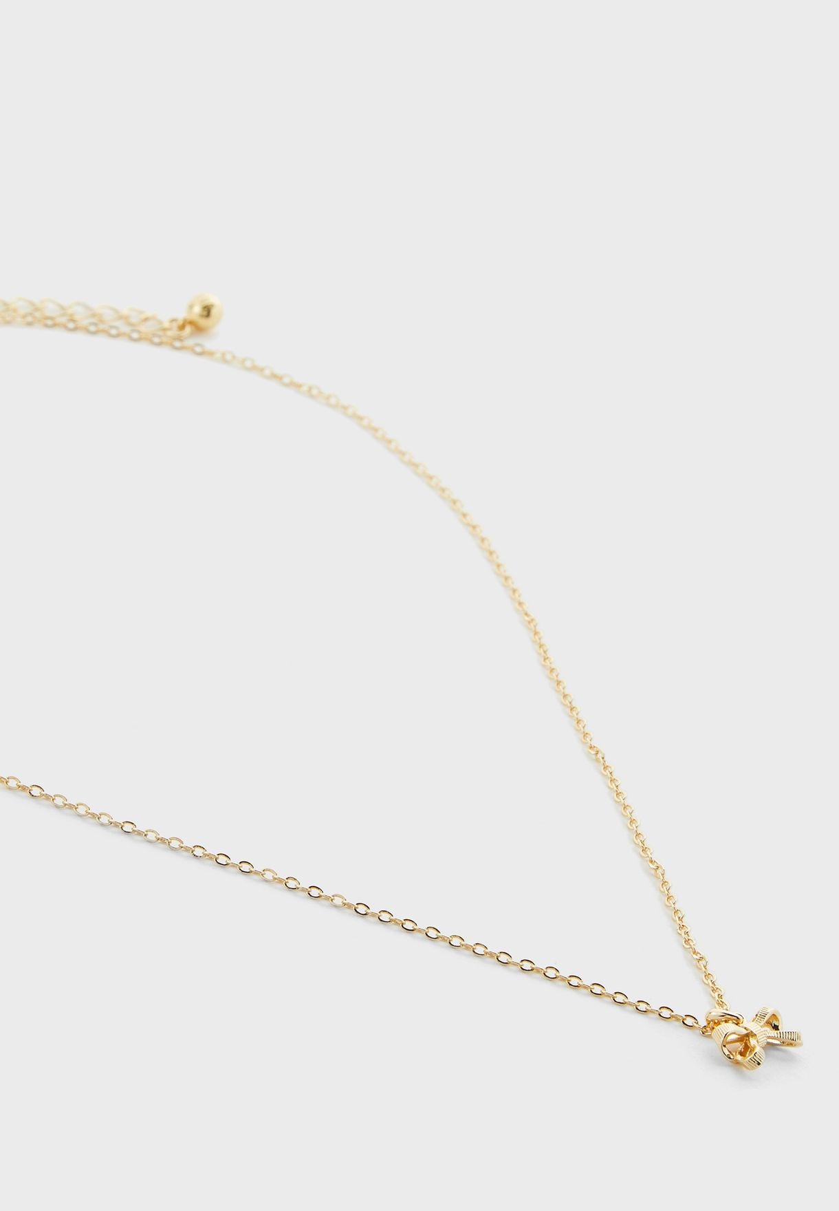 Petrae Petite Bow Pendant Necklace