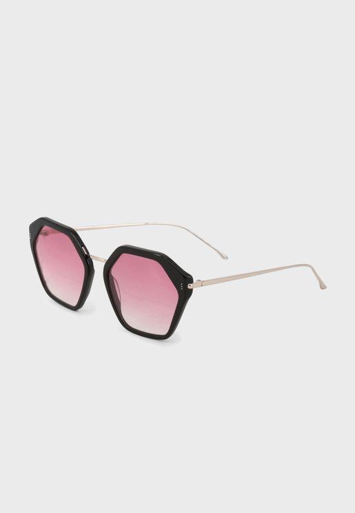 Hexagonal Oversized Sunglasses