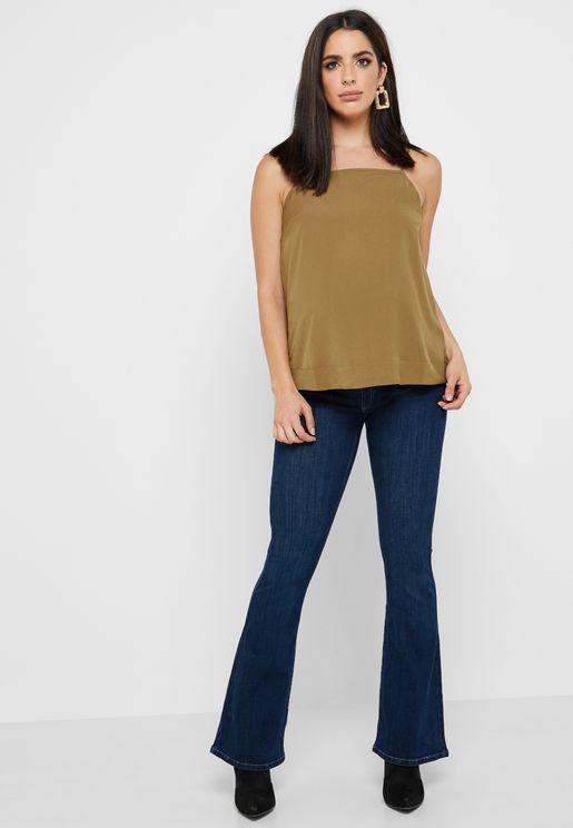 بنطال جينز بغطاء للبطن