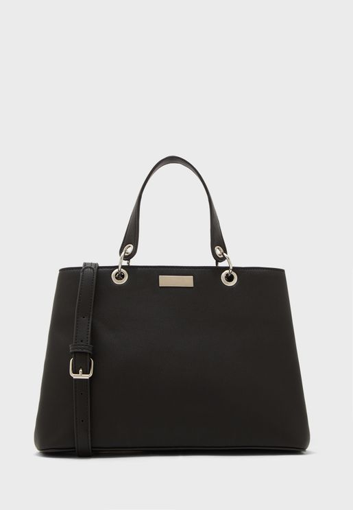 Eyelet Double Handle Tote