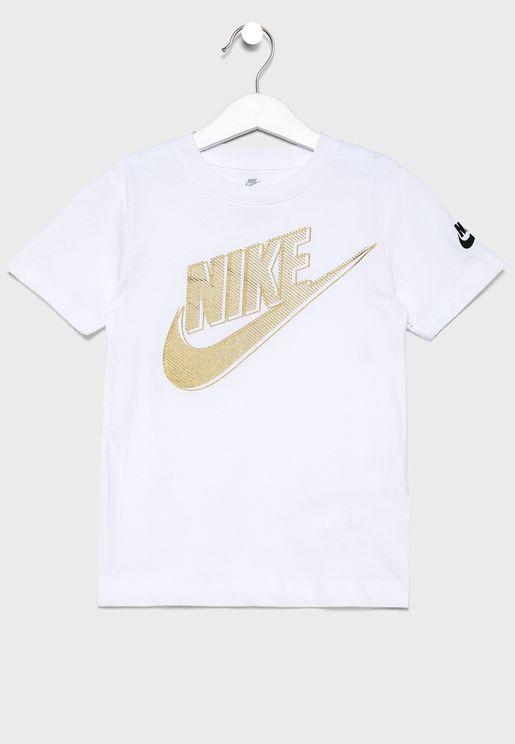 Kids Futura Club Metallic T-Shirt