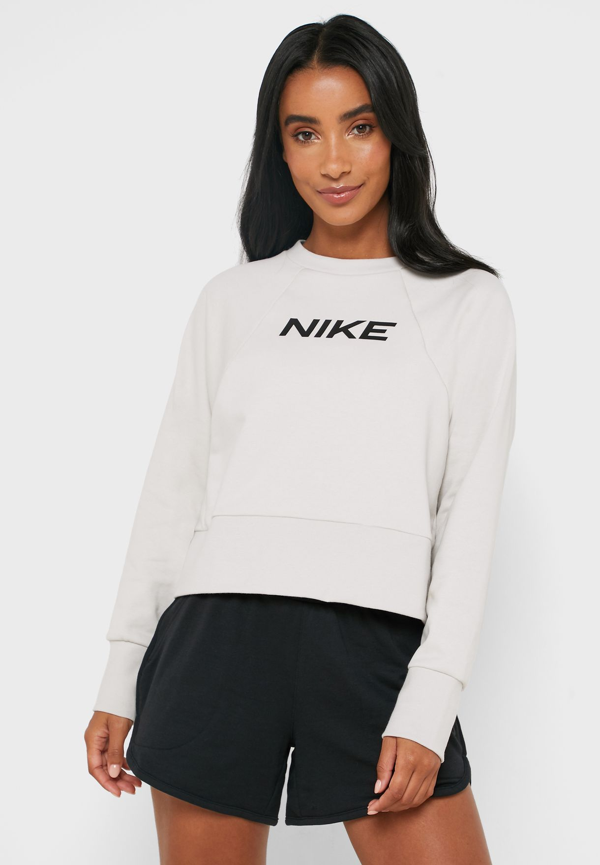 Imposible Escribir Último  Buy Nike grey Dri-FIT Sweatshirt for Women in MENA, Worldwide | CQ9305-072
