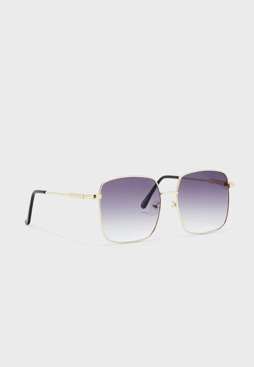 نظارة شمسية مربعة باطار معدني