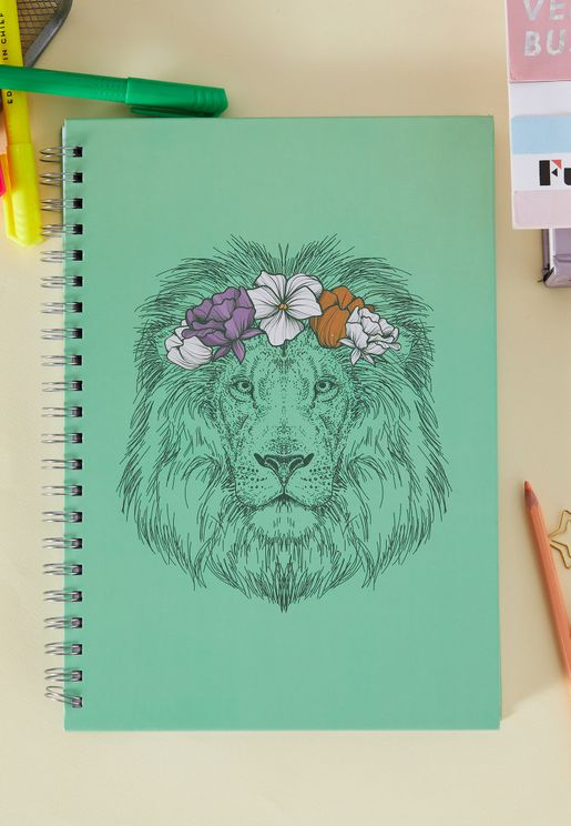 A4 Lion Notebook