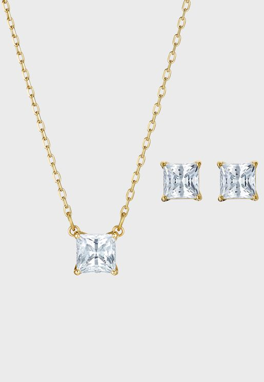 Attract Necklace+Square Earrings Set