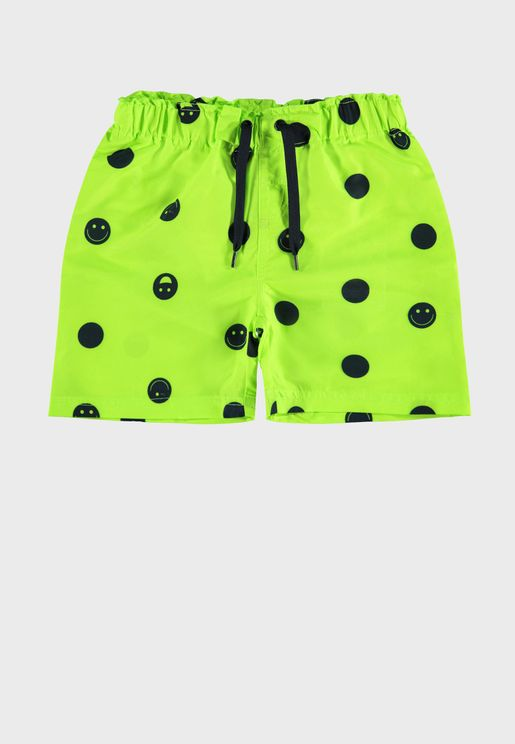 Kids Polka Dot Swim Shorts