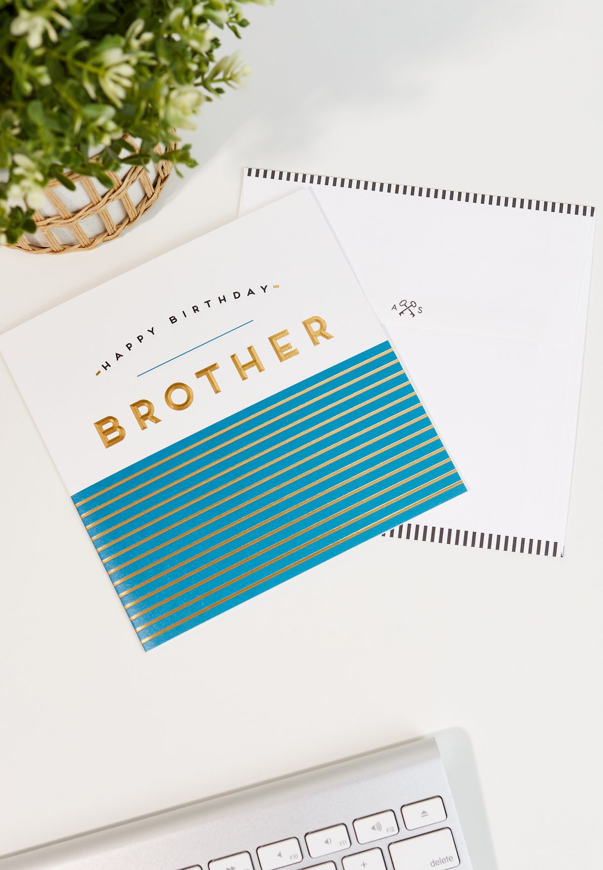 Brother Blue Stripes Card