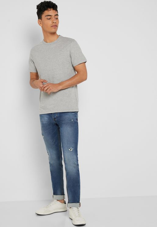 ec663ed845c Mid Wash Straight Fit Jeans