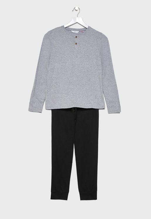 Kids Essential T-Shirt + Pyjama Set