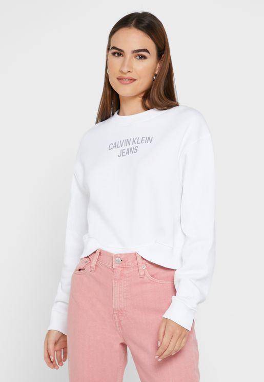Round Neck Logo Sweatshirt
