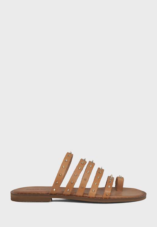 Multi Strap Flat Sandal