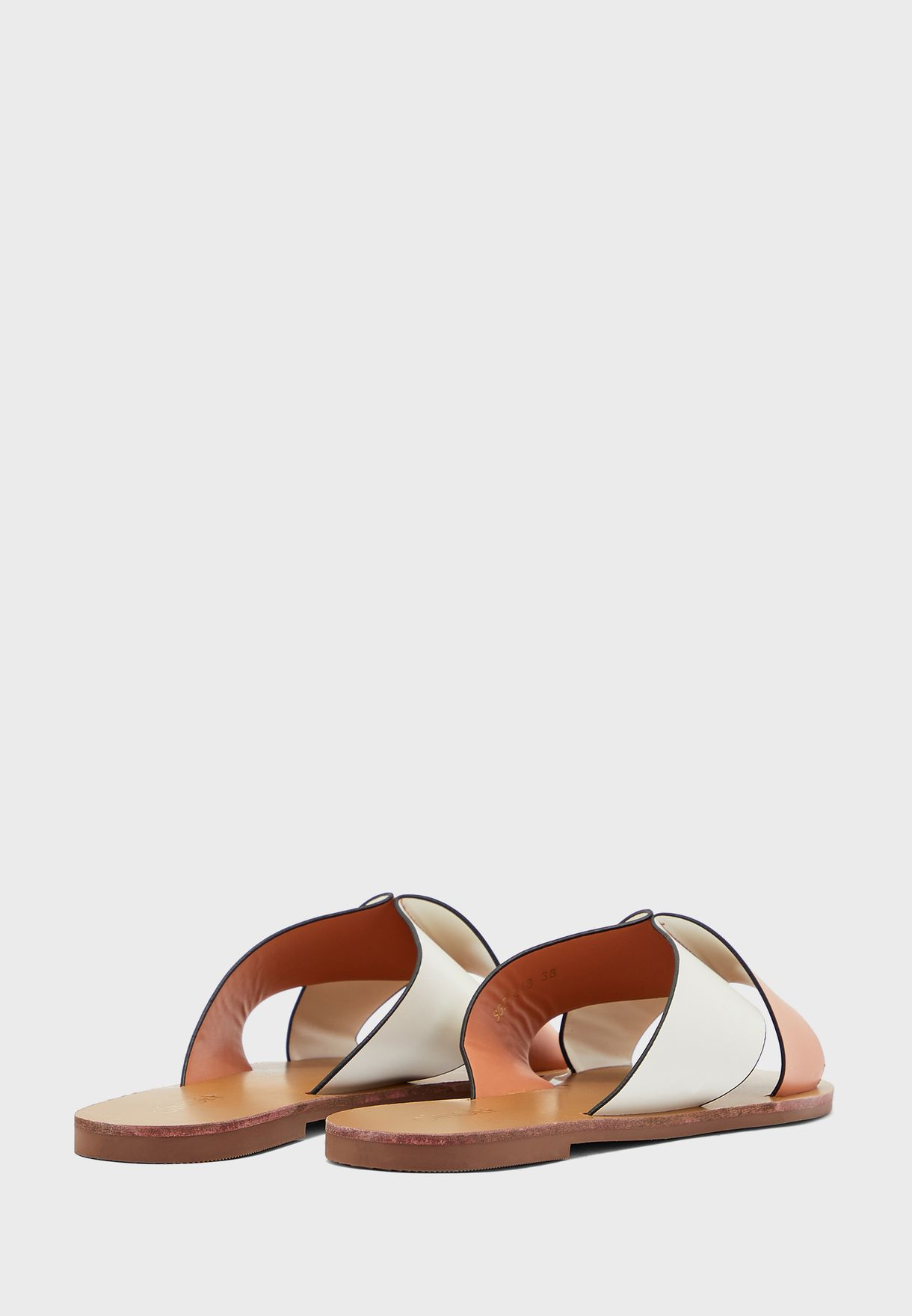 Two Tone Flat Sandals